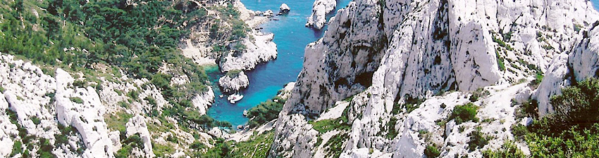 Carte des calanques...